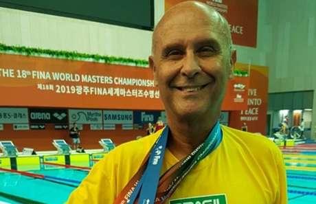 Atual campeão Mundial master na Natação, Djam Madruga também é dirigente do CBEM (Foto: Arquivo Pessoal)