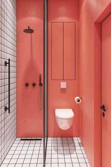 5. O minimalismo é tendência até na decoração de banheiros femininos – Foto: Ideias Decor