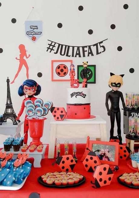 32. Festa de aniversário Ladybug e Cat Noir – Por: Pinterest