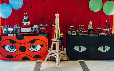 51. Festa para irmãos ladybug e Cat Noir – Por: Pinterest