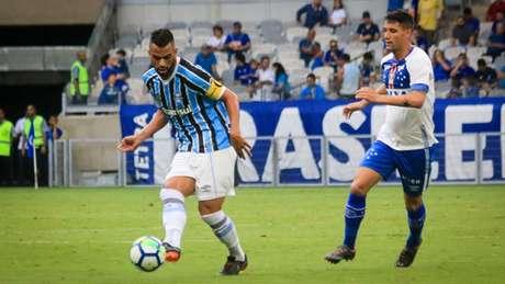"""O último duelo entre os """"Reis de Copas"""" em BH, deu Grêmio, no Brasileiro de 2018- (Dudu Macedo/Fotoarena)"""