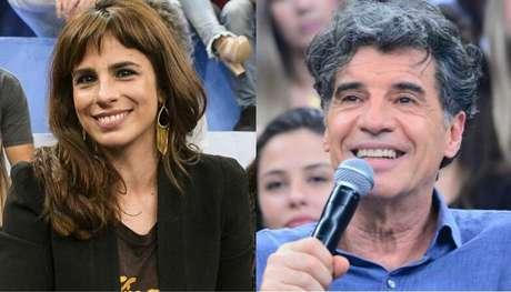 A atriz Maria Ribeiro e Paulo Betti