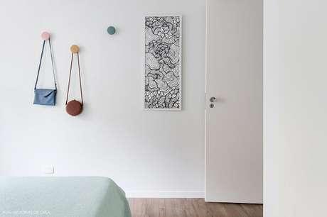 16. Gancho de parede em formato redondo. Fonte: Pinterest