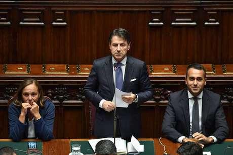 Giuseppe Conte discursa na Câmara dos Deputados, em 9 de setembro de 2019