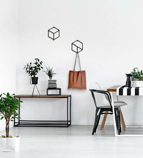 15. Gancho de parede com design moderno. Fonte: Pinterest