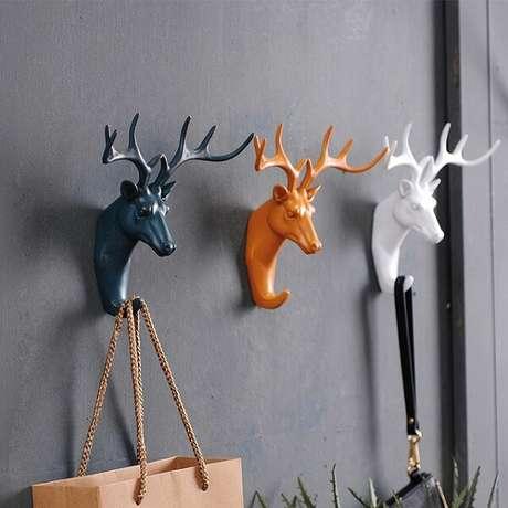 71. Gancho com formato de cervo. Fonte: Pinterest