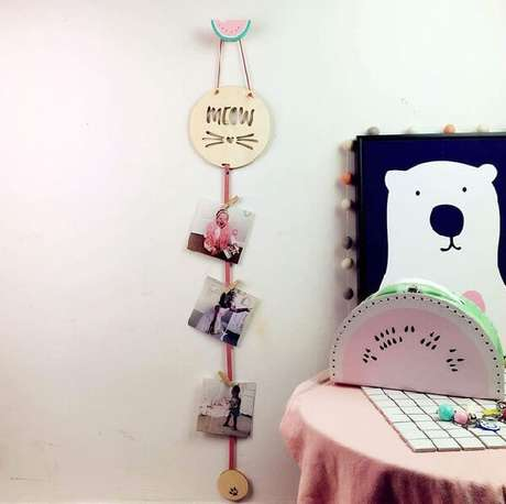 20. Gancho de parede em formato de melancia. Fonte: Pinterest