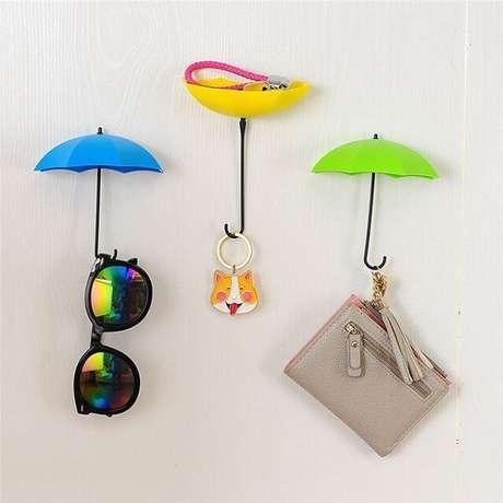 26. Gancho de parede em formato de guarda chuva. Fonte: Pinterest