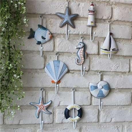74. Gancho feito com elementos marinhos. Fonte: Pinterest