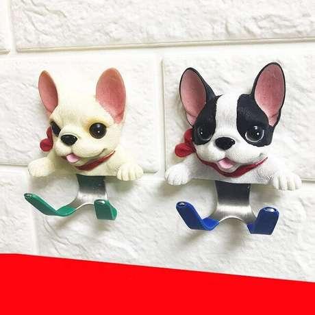 75. Gancho com formato de cachorro. Fonte: Pinterest