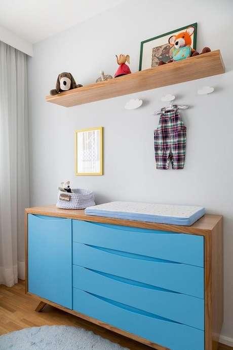 34. Gancho de parede em formato de nuvem decora o quarto do bebê. Fonte: Pinterest