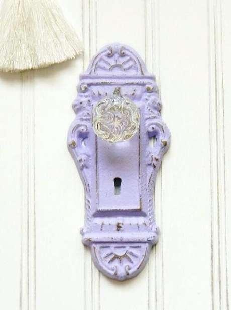 37. Gancho criativo em forma de maçanete de porta. Fonte: Pinterest