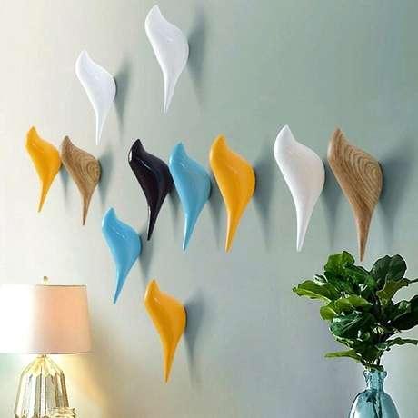 41. Gancho para parede em formato de passarinho. Fonte: Pinterest