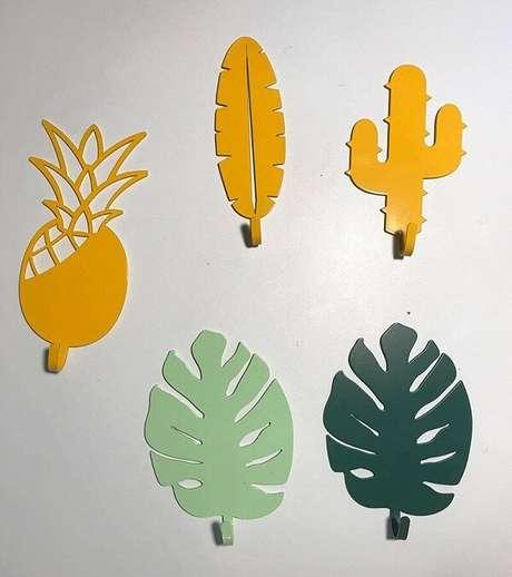 8. Gancho de parede com design criativo. Fonte: Pinterest