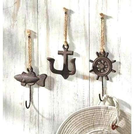 52. Gancho feito com corda e suporte metálico. Fonte: Pinterest