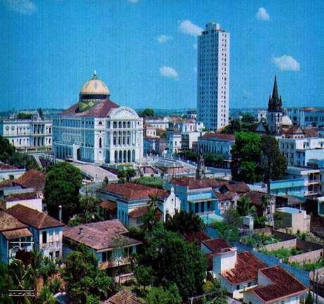 O Teatro Amazonas, em Manaus