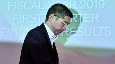 CEO da Nissan, Hiroto Saikawa, reconheceu a jornalistas que resultados recentes da empresa são 'medíocres'