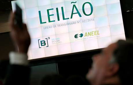 Placa indicativa de leilão de energia na B3, em São Paulo  28/06/2018 REUTERS/Leonardo Benassatto