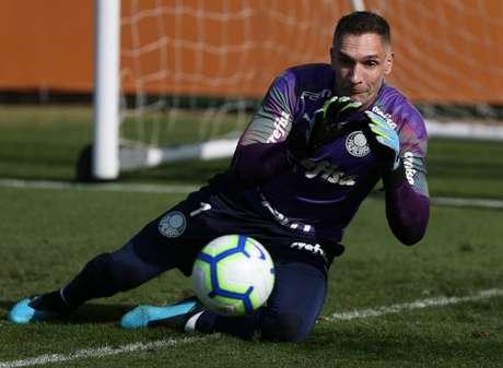 Prass atuou os 90 minutos contra o Fluminense (Foto: Cesar Greco / Palmeiras)