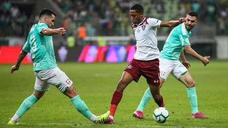 Fluminense perdeu por 3 a 0 para o Palmeiras no Allianz Parque (Foto: Lucas Merçon/FFC)