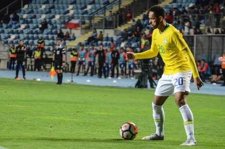 Matheus Cunha é artilheiro da Seleção Olímpica (Foto: Rener Pinheiro/MoWA Press)