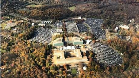 Imagem aérea da sede da CIA em Langley, no Estado da Virgínia