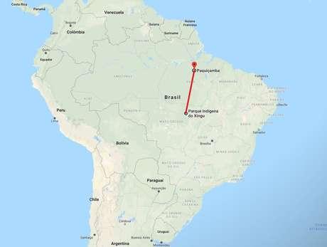 Distância entre a Terra Indígena Paquiçamba, que concentra os jurunas da Volta Grande, e o Território Indígena do Xingu, para onde parte da comunidade fugiu há quase um século