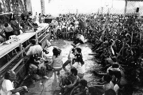 1º Encontro dos Povos Indígenas do Xingu reuniu em Altamira grupos contrários à construção de Belo Monte, em 1989