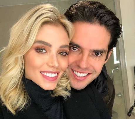 A modelo Carol Dias e o ex-jogador de futebol Kaká.