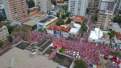 Acesso do Náutico fez as ruas do Recife ficarem lotadas