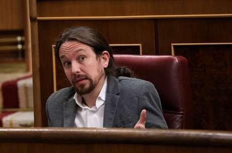 Líder do Podemos, Pablo Iglesias, durante sessão do Plenário 11/09/2019 REUTERS/Sergio Perez