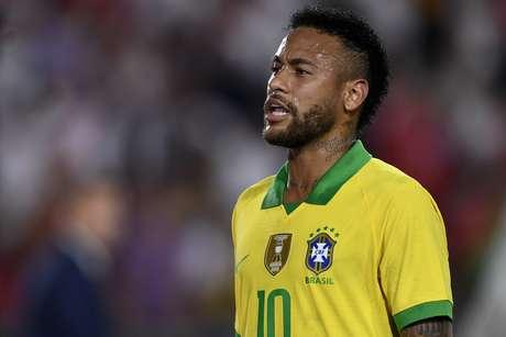 Neymar durante derrota do Brasil para o Peru, em amistoso