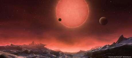 Planeta K2-18b orbita uma estrela anã vermelha e possui cerca de oito vezes a massa da Terra