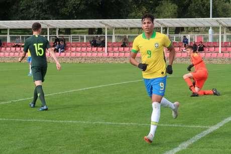 Kaio Jorge marcou um belo gol no amistoso do Brasil contra a Austrália (Foto: Bruno Pacheco/CBF)
