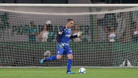 Fernando Prass foi titular do Palmeiras no jogo contra o Fluminense (Foto: Cesar Greco/Palmeiras)