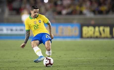 Fagner foi o titular da Seleção Brasileira no amistoso contra o Peru (Divulgação CBF)