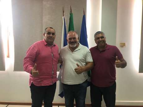 Prefeito Marcelinho, Mestre Fernandes e sub-secretário Aldemir Jóia confirmaram o evento (Foto: Reprodução)