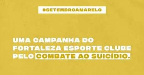 O Fortaleza entrou na campanha mundial de prevenção ao suicídio (Foto: Divulgação)