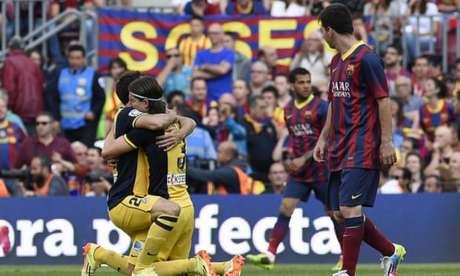 Em 2013/2014, o Atlético foi o campeão da liga (Foto: AFP)