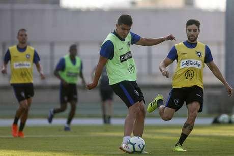 Rodrigo Pimpão no treinamento (Foto: Vítor Silva/Botafogo)