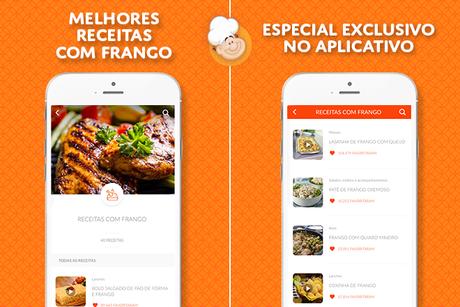 Confira receitas com frango deliciosas no aplicativo do TudoGostoso