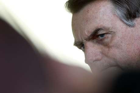 Bolsonaro fala no Palácio do Alvorada  28/8/2019 REUTERS/Adriano Machado