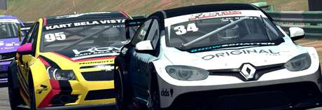 F1BC Marcas Pro tem argentino Juan Manuel Gomez vencendo abertura de campeonato em Brasília com grid cheio