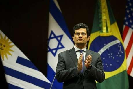 O ministro da Justiça e Segurança Pública, Sergio Moro, em Brasília