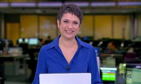 Sandra Annenberg ao se despedir do 'Jornal Hoje'.