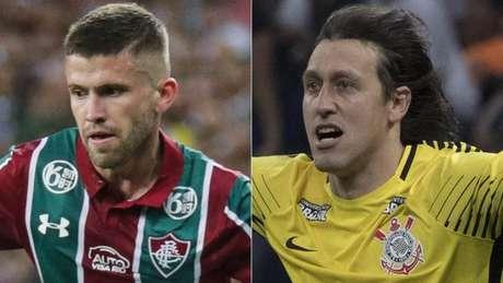 Caio Henrique e Cássio somam 48 jogos em 2019 (Fotos: Lucas Merçon/Fluminense; Daniel Augusto Jr/Corinthians)