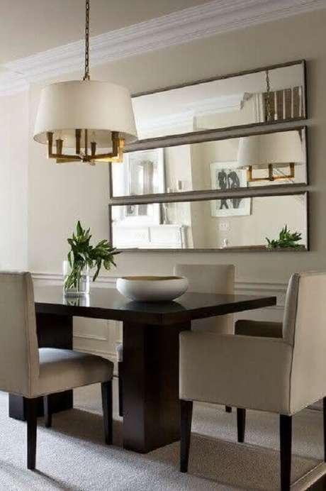 65. Espelhos decorativos para sala de jantar moderna – Foto: Home Awakening