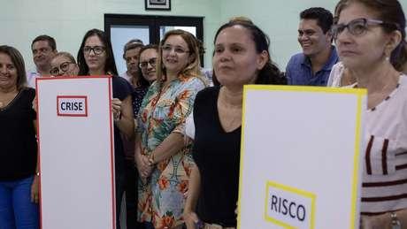 O treinamento foi adaptado a partir de rotinas da própria Cruz Vermelha. Na foto, atividade em Fortaleza (CE)