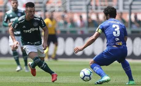 A última partida entre Palmeiras e Cruzeiro foi no Pacaembu e teve vitória paulista (Foto: Divulgação/SEP)