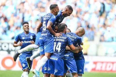 Grêmio jogou bem e venceu o Goiás com propriedade (Foto: Lucas Uebel/Grêmio FBPA)